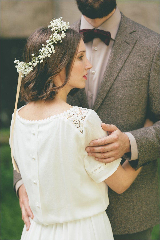 Braut Haarkranz Schleierkraut Von Anmut und Sinn Foto Lene Photography  Florisitik in 2019