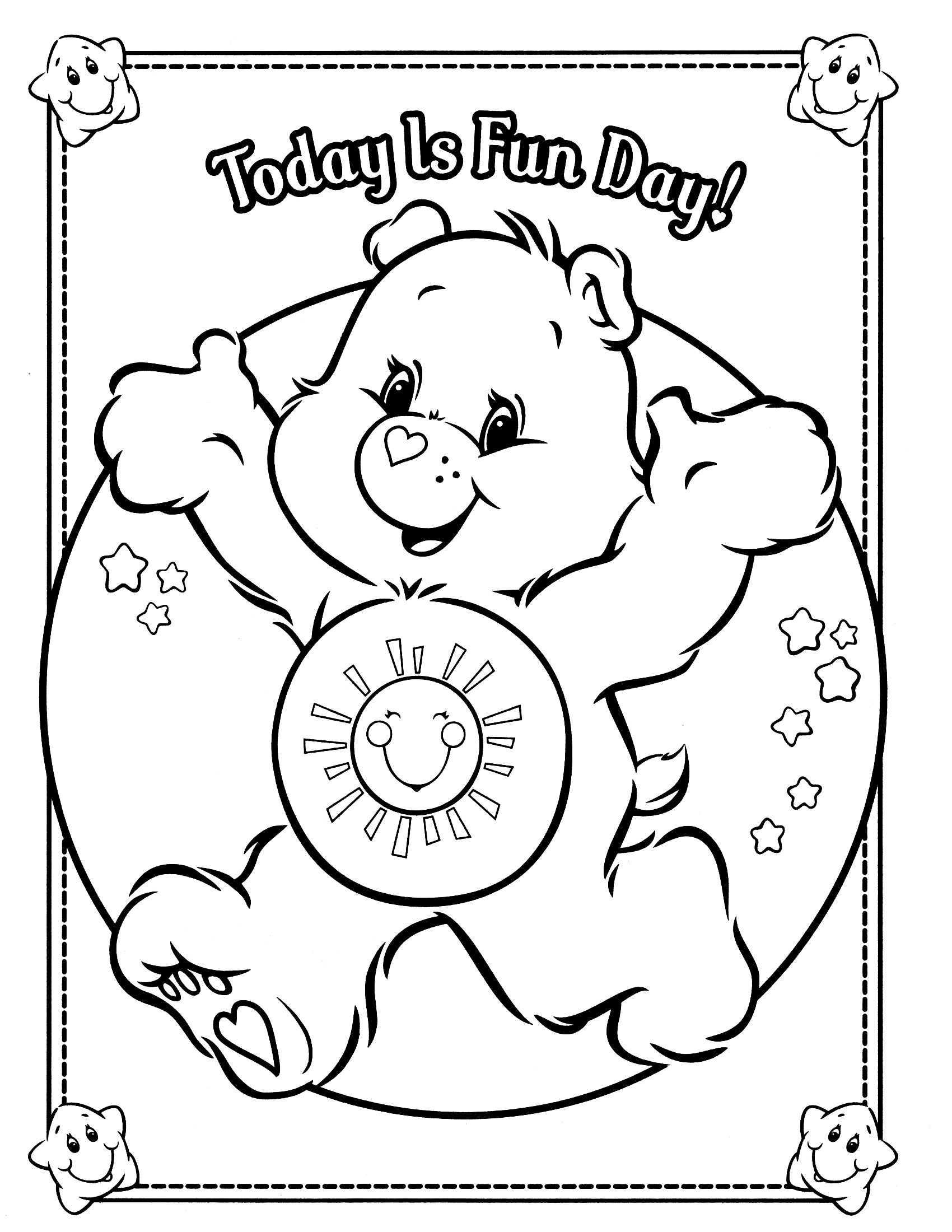 care bears coloring page Bear coloring pages, Cute