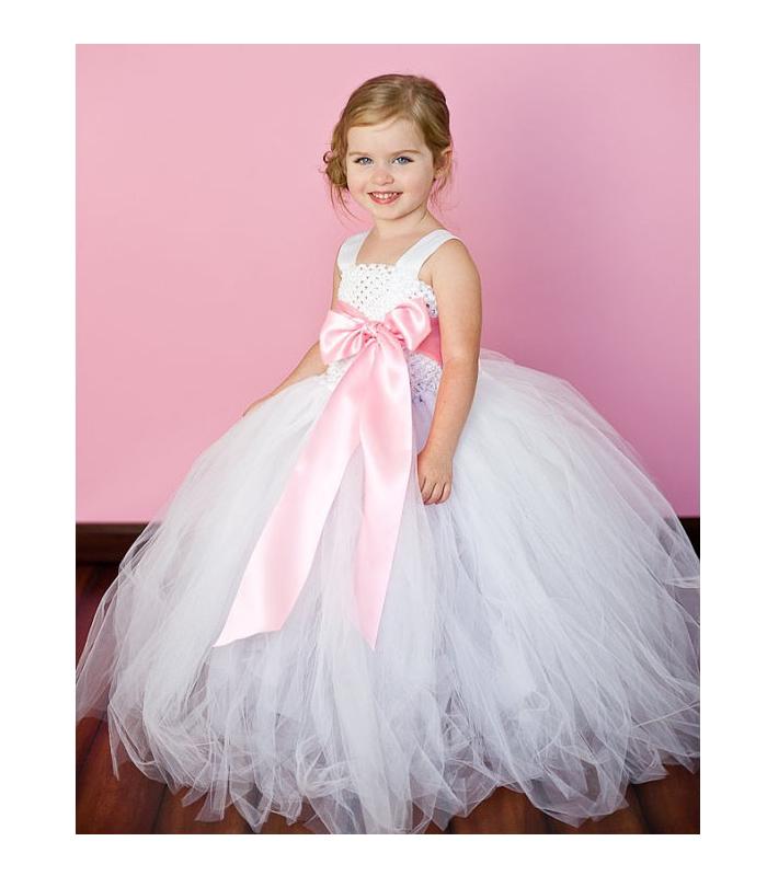 Vestidos de niñas para bodas y comuniones de tul: V-1 Vestido de tul ...