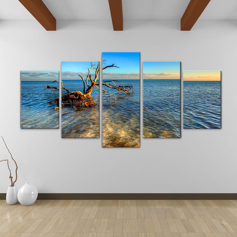 bruce bain ocean view piece canvas wall art overstock