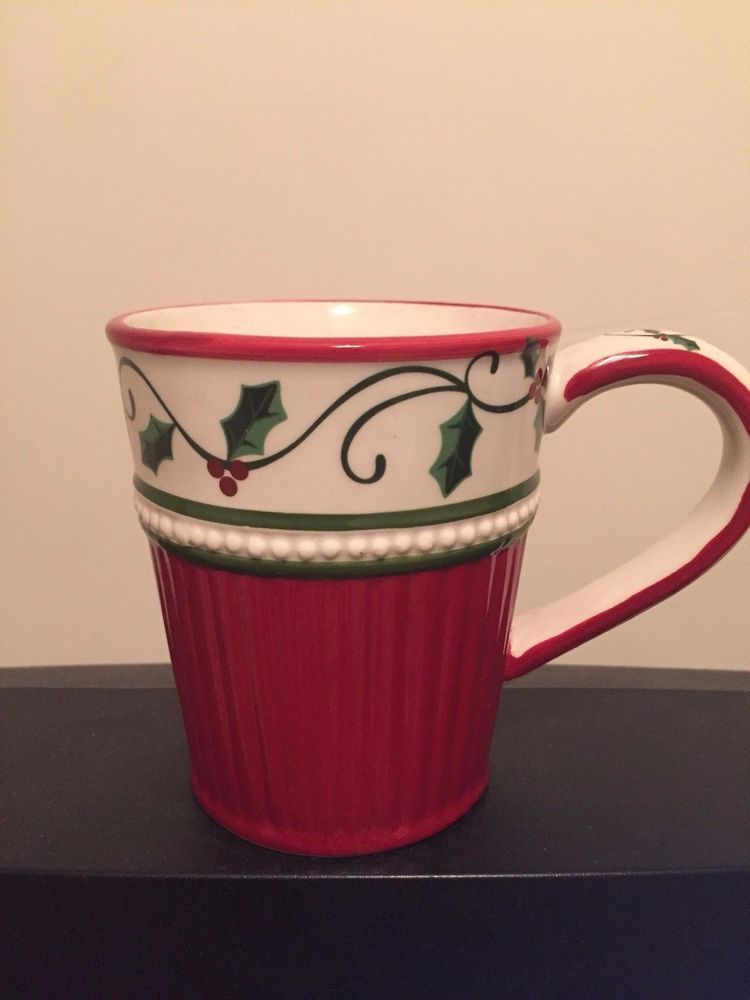 Cracker Barrel Plaid Tidings Christmas Mug Crackerbarrel