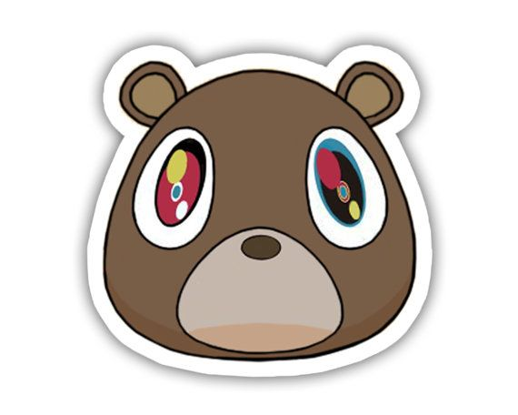 86b01af717bd9 Kanye West Bear Vinyl Decal Sticker | Art | Kanye west bear, Vinyl ...