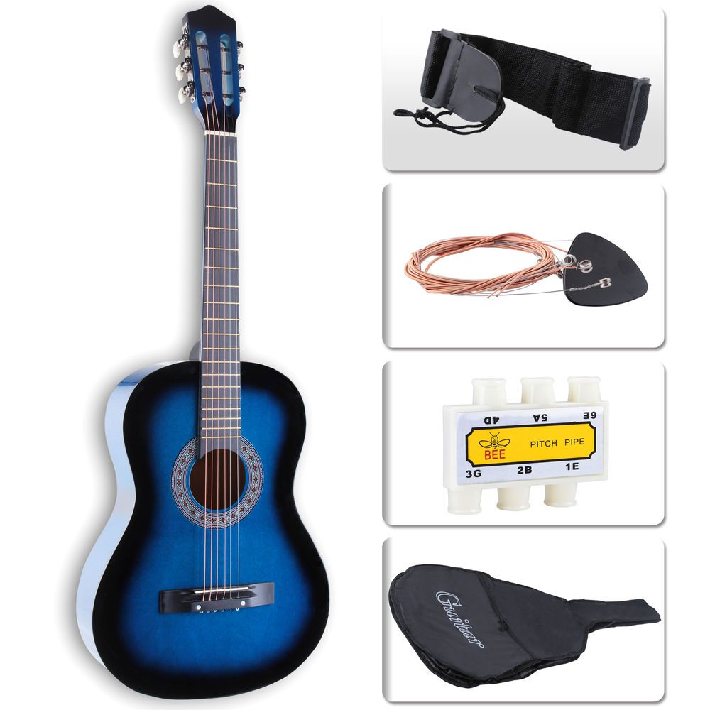 38'' Beginners Electric Acoustic Guitar w/Guitar Case