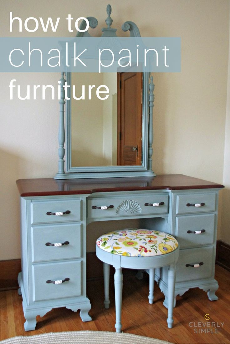 How To Chalk Paint Furniture Painting Diy