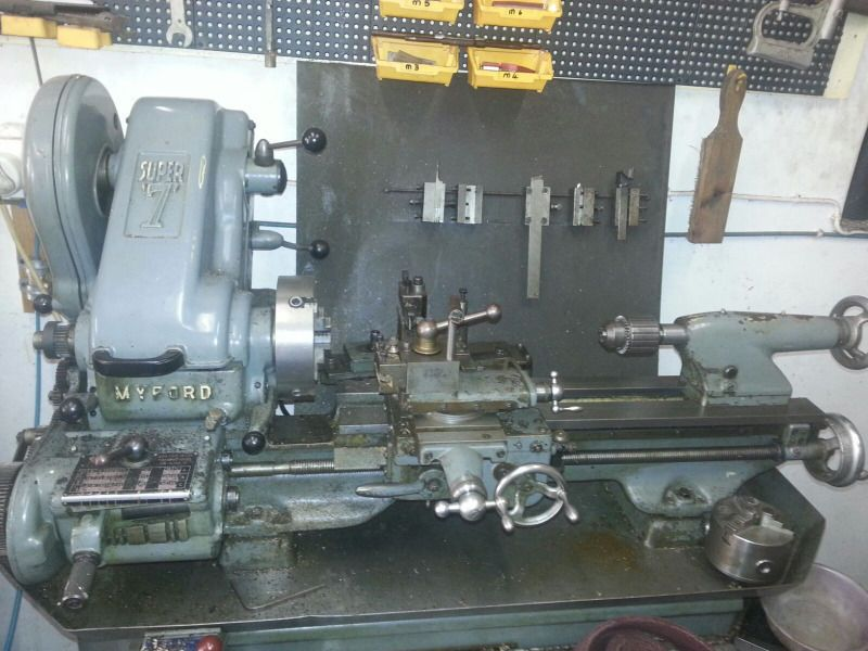 lathe metal myford super 7 full working order vintage machine rh pinterest com Manual Car Manual Car