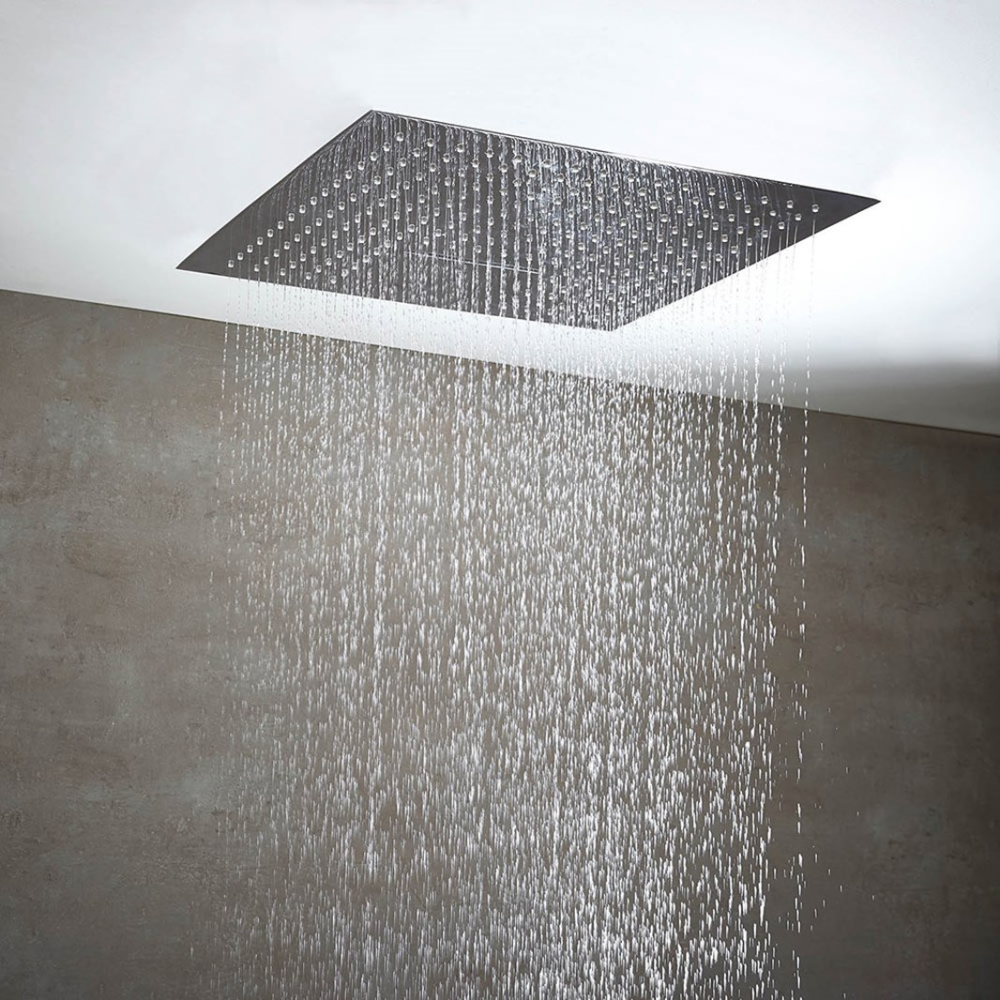 Phoenix Niagra Luxury Dual Function Recessed Shower Head 500 X 500mm Tap Warehouse Ceiling Mounted Shower Head Shower Heads Ceiling Shower Head