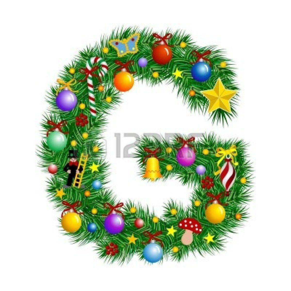 Letter G Christmas Tree Decoration Alphabet Christmas Lettering Christmas Alphabet Christmas Fonts