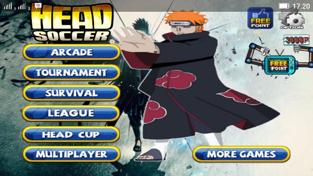 Head Soccer Mod Naruto v4.0.3 Apk Data Terbaru, Keren Bro