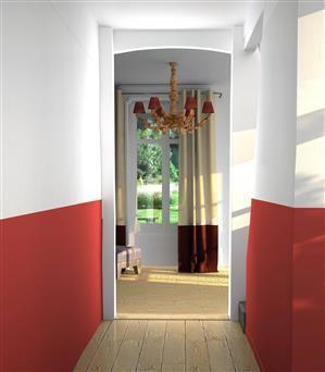 couloir aux soubassements t2074-4 - tollens | idées couleurs ... - Quelle Couleur Pour Un Couloir Sans Fenetre