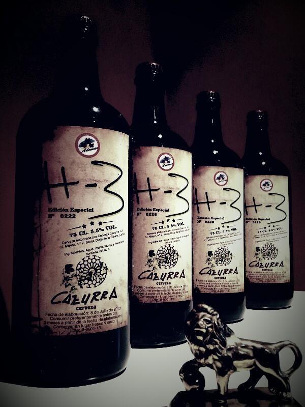 "Auténtica cerveza de León "" Cazurra """