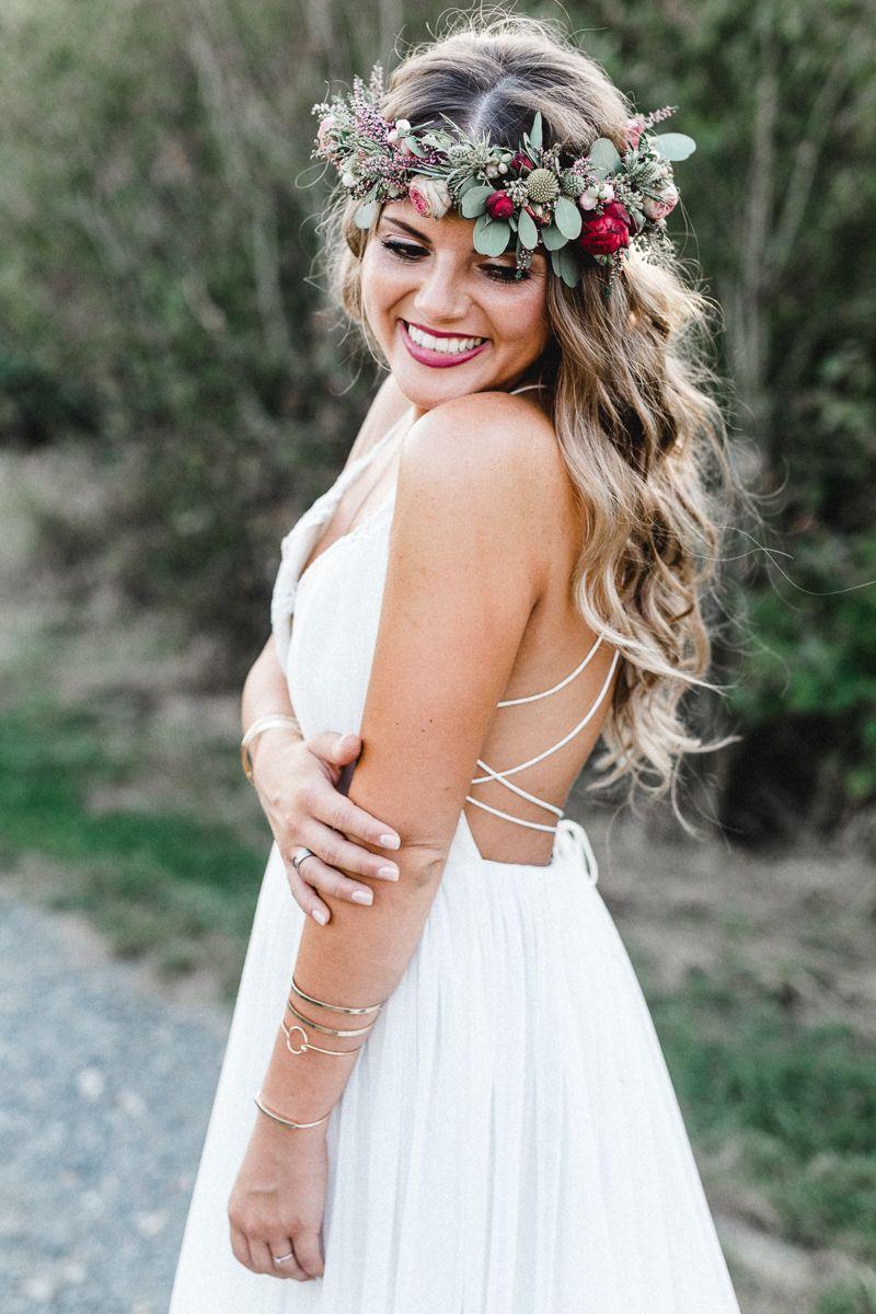 Romantische Boho Hochzeit  REAL BRIDES  boho Hochzeit Makeup hochzeit Haare hochzeit