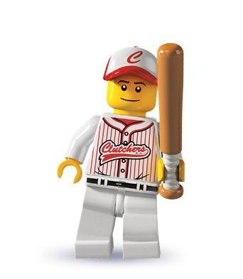 New Genuine LEGO Baseball Fielder Minifig with Glove Series 10 71001