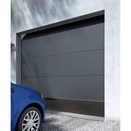 Porte De Garage Sectionnelle Londres Grise L 240 X H 200 Cm En Kit Porte Garage Porte De Garage Sectionnelle Et Garage