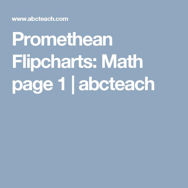 Promethean Flipcharts: Math page 1 | abcteach | Technology ...
