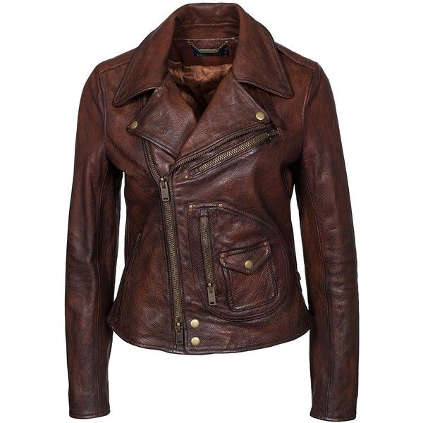 ... on Polyvore featuring outerwear, coats, jackets, burnished brown,  womens-fashion, brown coat, leather coat, genuine leather coat and brown  leather coat 4b8c4b15679e
