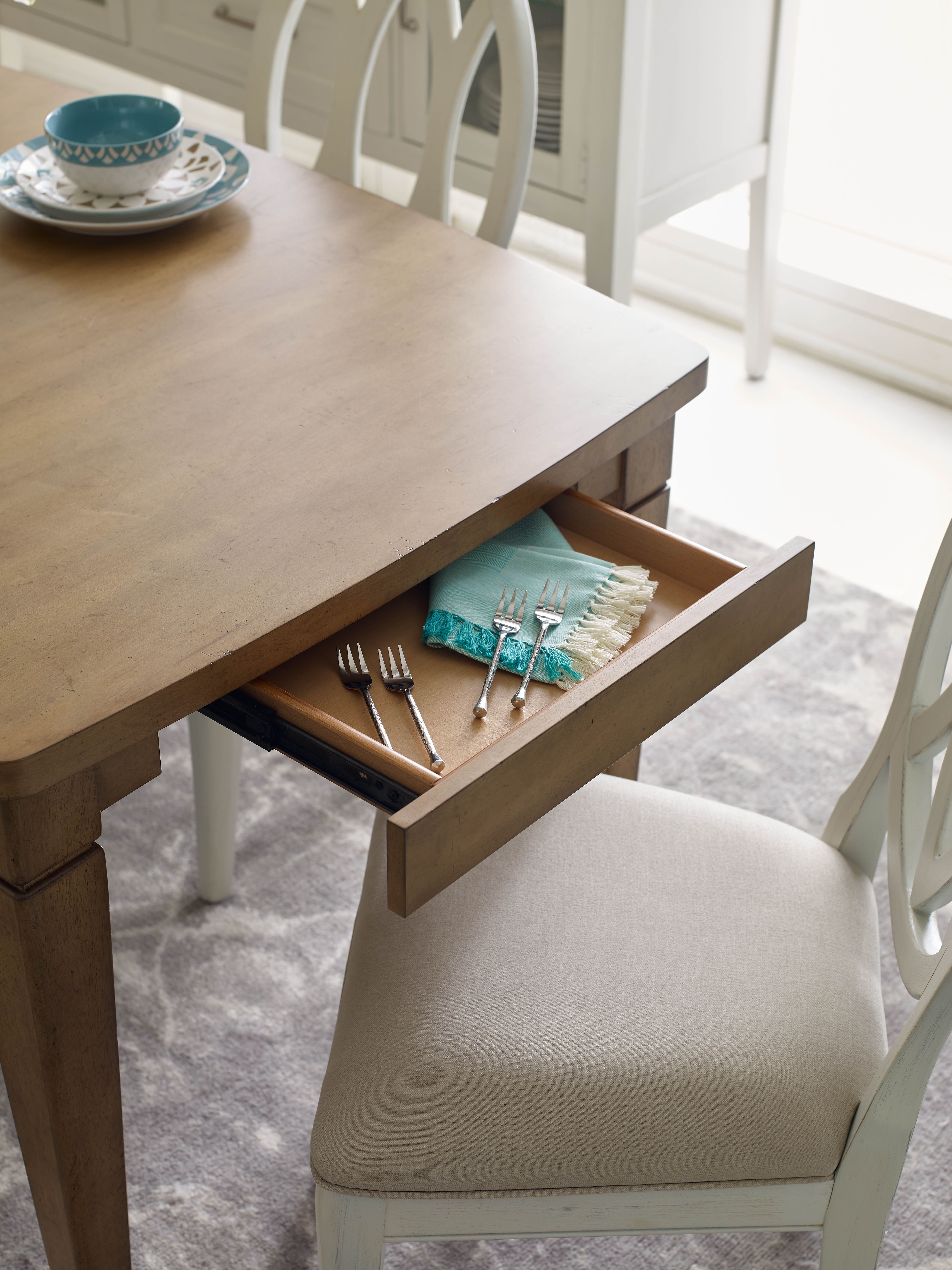 Hidden Storage in a Table Surfboard Table from the Rachael Ray