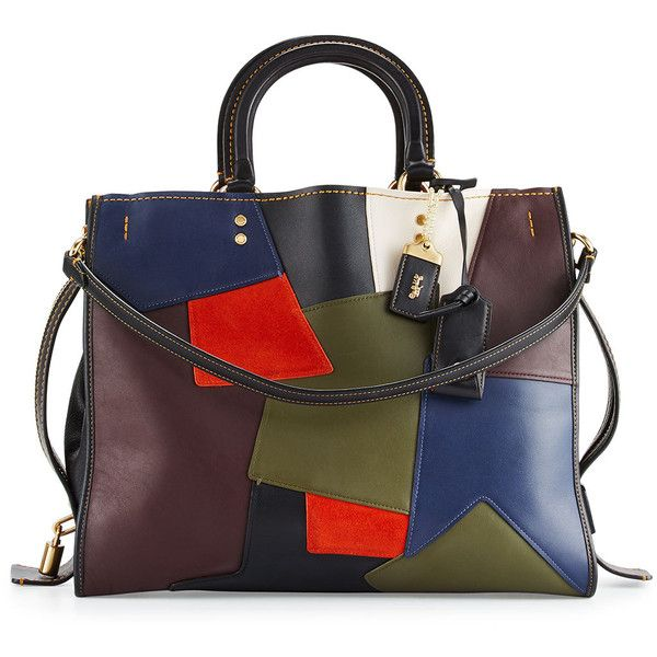 a343780cd020 Coach 1941 Rogue Patchwork Tote Bag (13.336.160 IDR) ❤ liked on Polyvore  featuring bags