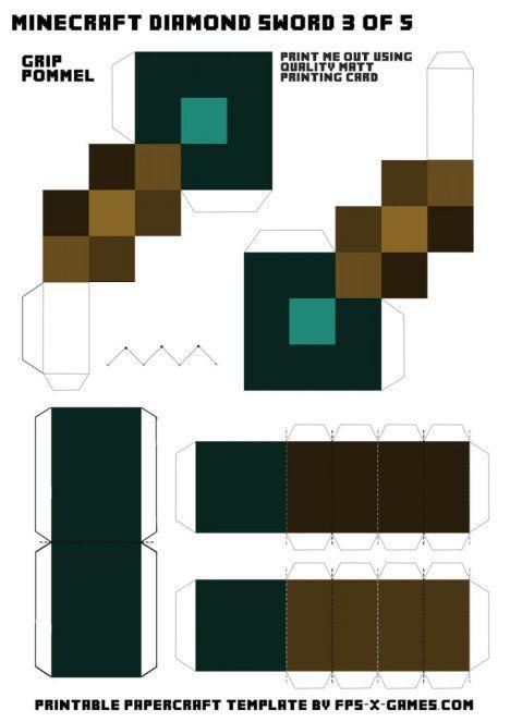 Схема кубика майнкрафт