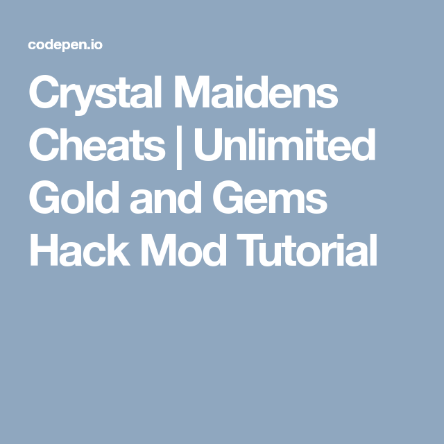 Crystal Maidens Cheats | Unlimited Gold and Gems Hack Mod