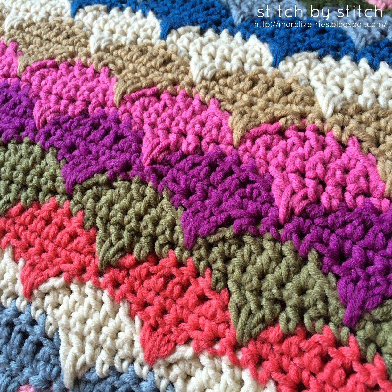 Stitch by Stitch: Clamshell Crochet Blanket