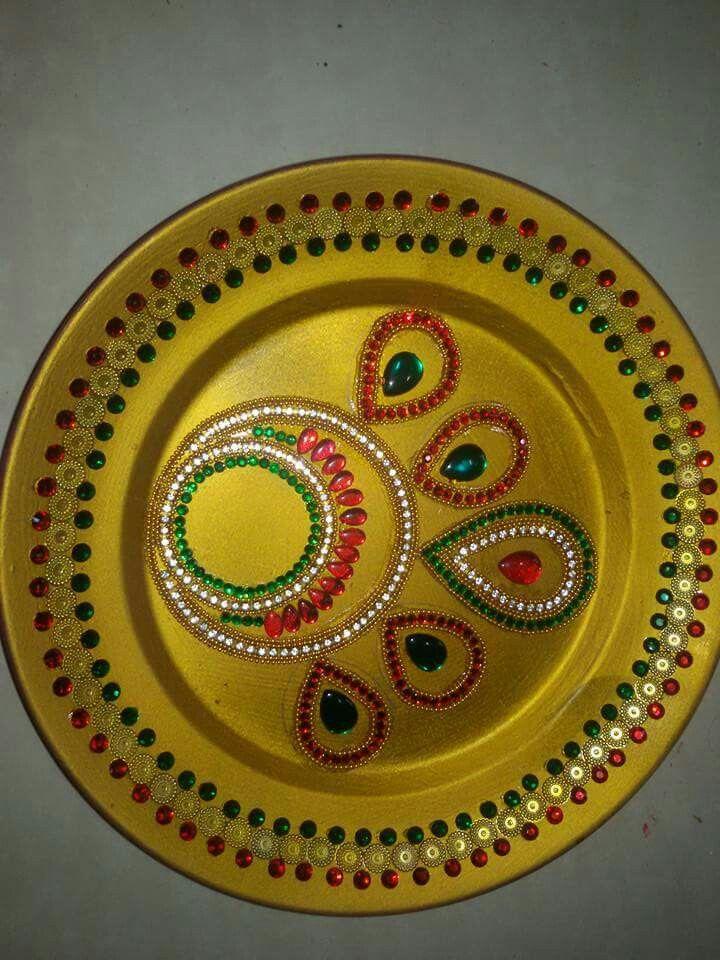 Pin by parul patel on pooja thali pinterest craft festival decorations designs rangoli indian weddings diwali wedding gifts imagination celebrations plates couples wedding presents junglespirit Image collections