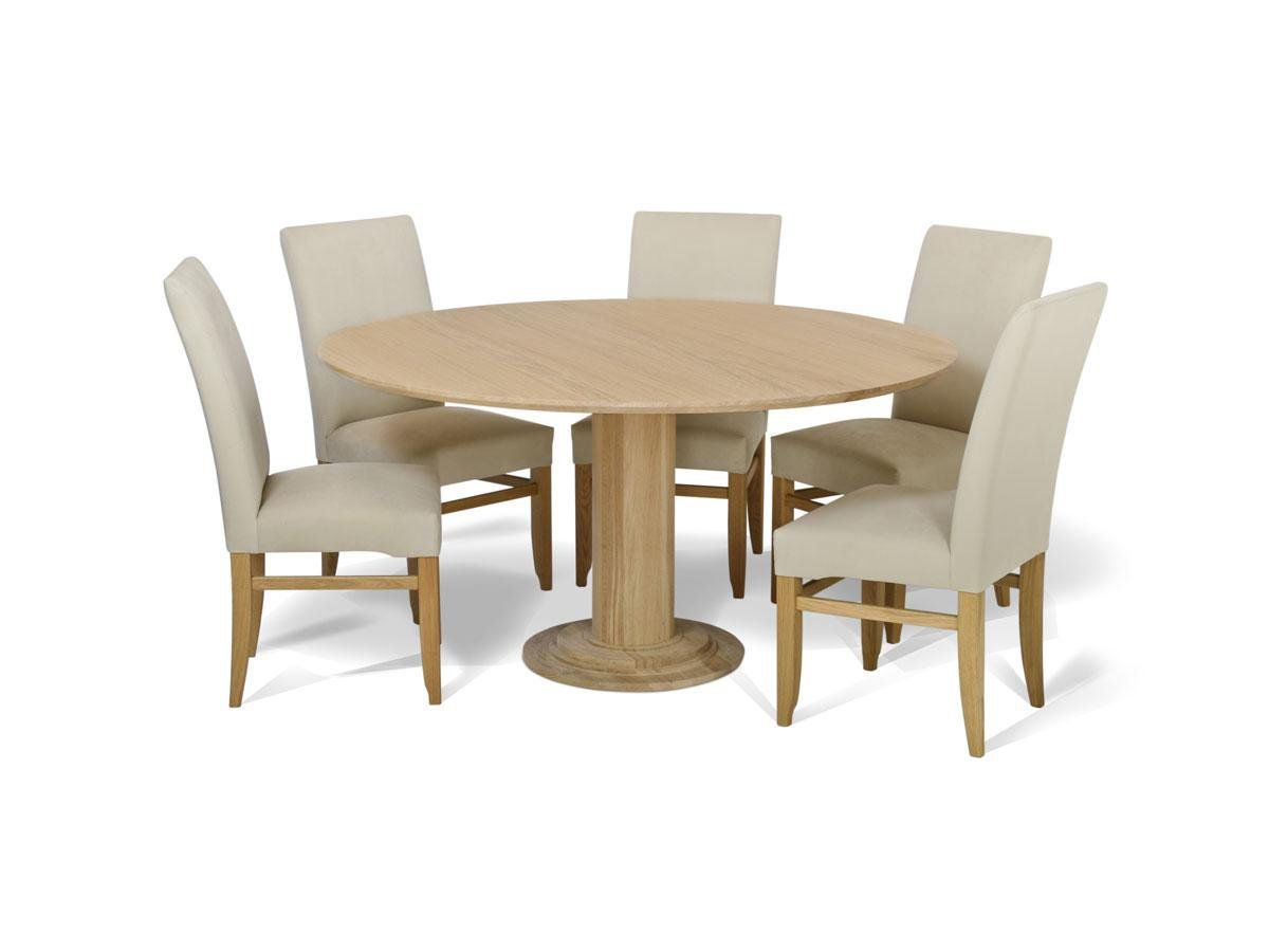Oak Round Extending Table