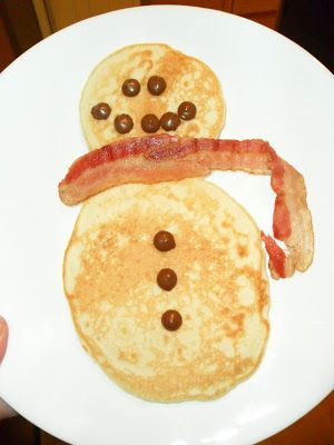 Tonight it was getting late and I still hadn't had a chance to start dinner.   What to eat?   Pancakes!   And since it's almost Christmas, w...
