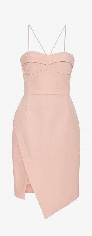 Silk Bustier Dress #pink sencillamente hermoso