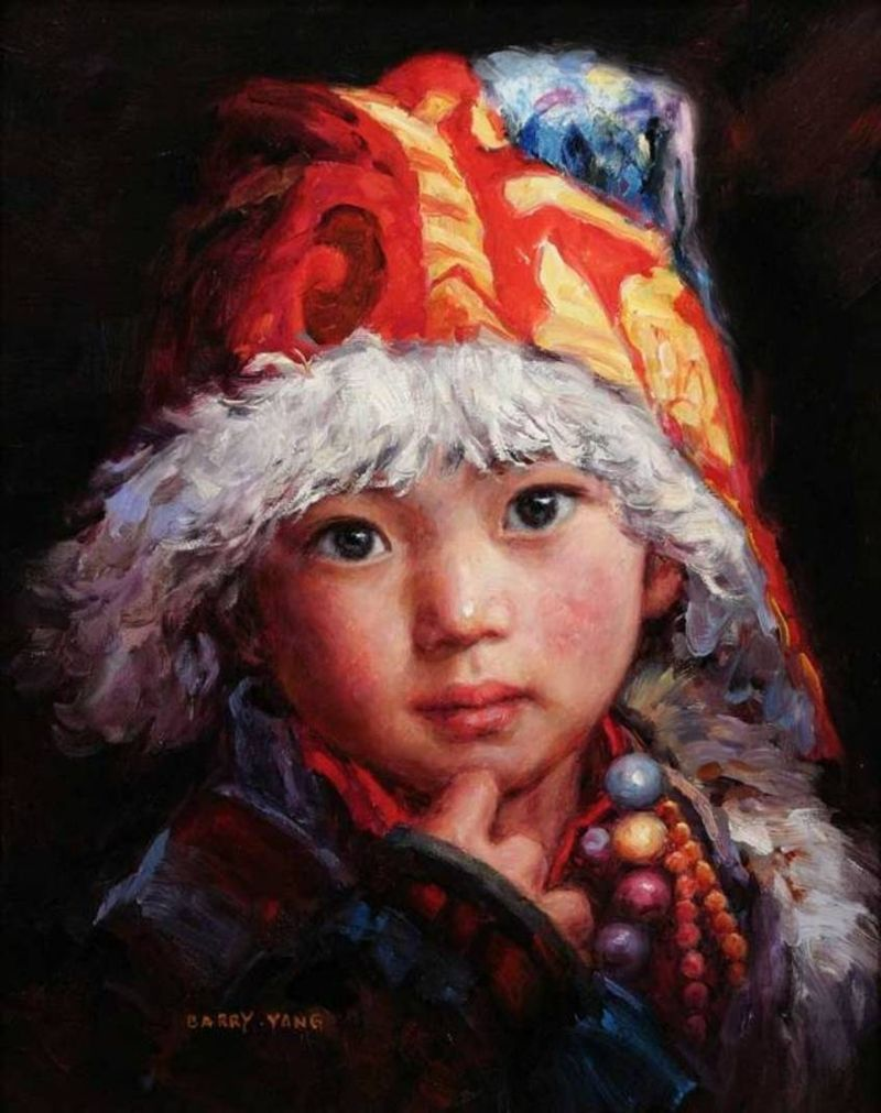 Barry yang children in art peintres chinois for Artiste peintre chinois