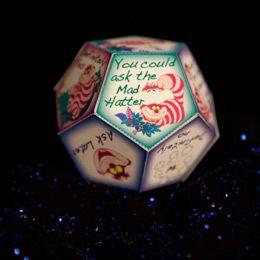 Cheshire Cat's Fortune Teller Craft - Alice in Wonderland party for teen summer reading (underground)