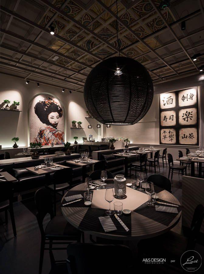Luce torino illuminazione ristorante giapponese shabu for Architetto giapponese