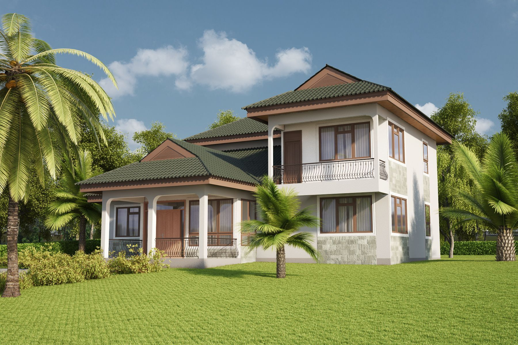 Four Bedrooms Villa Design Id 24402 House Designs By Maramani In 2020 Villa Design Mansion Designs African House