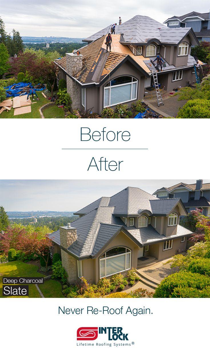 Slate Roofing Interlock Metal Roofing Metal Roof Metal Roof Installation Roof Installation