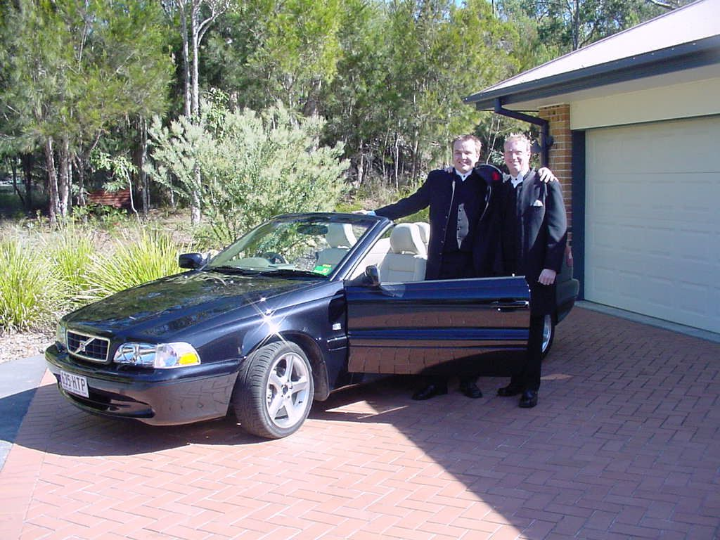 We Hired A Volvo C70 Soft Top Convertible To Take My Son And His Best Man