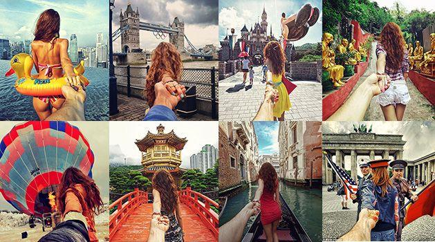Photographer Follows His Girlfriend Maternity Pinterest - Guy photographs his girlfriend as they travel the world
