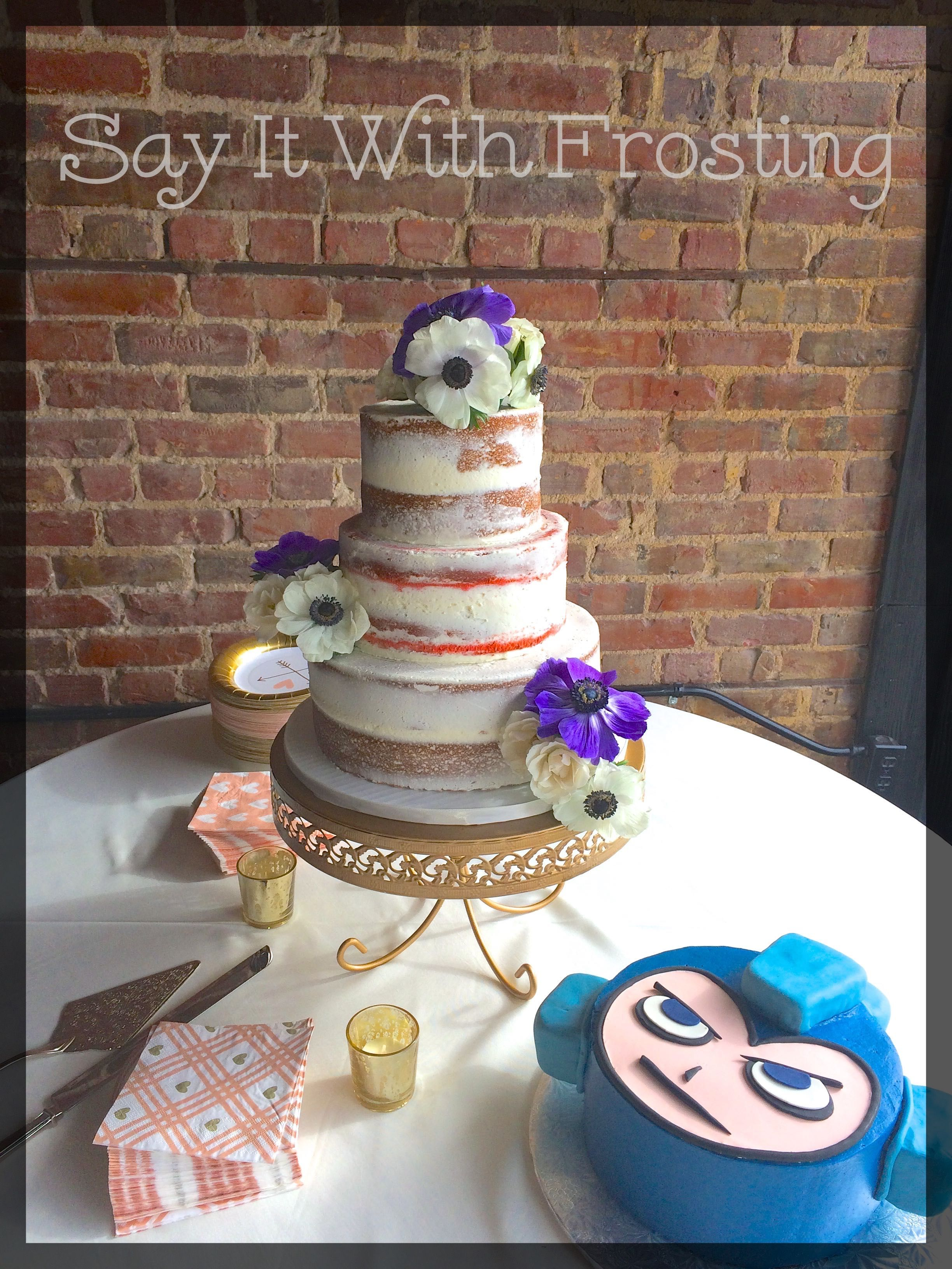 Semi Naked Wedding Cake And Mega Man Grooms For A Downtown Pensacola