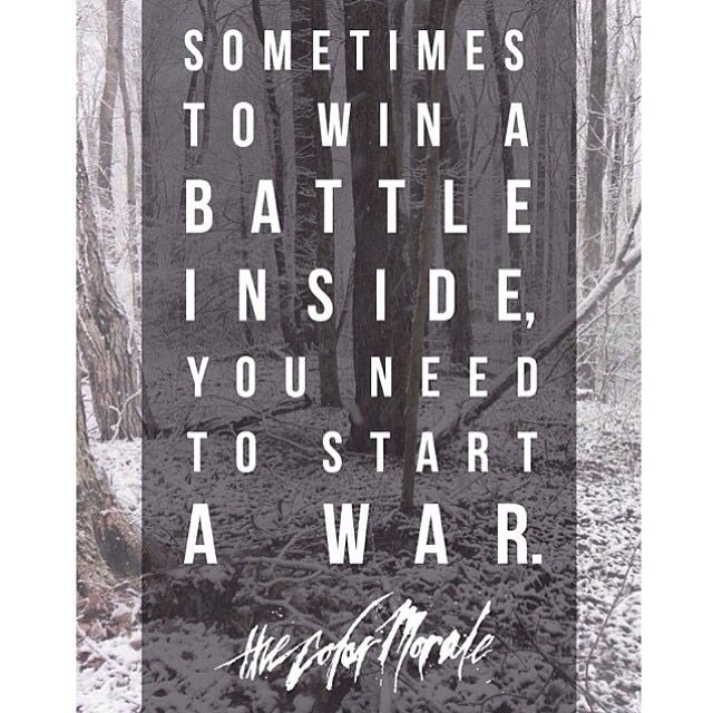 It's great to see a band like the Color Morale standing up against suicide I love this band