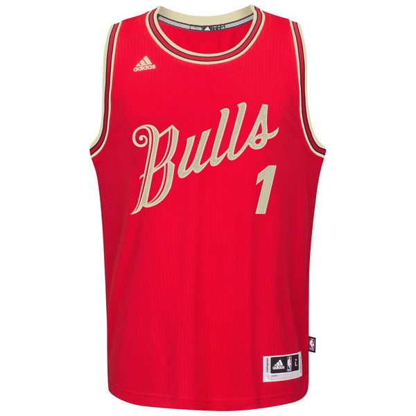 hot sale online 60084 31a48 Men's Chicago Bulls Derrick Rose adidas Red Christmas Day ...