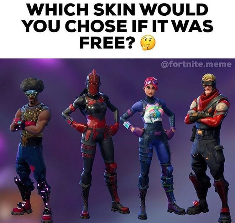 I would choose 3 how about you fortnite players