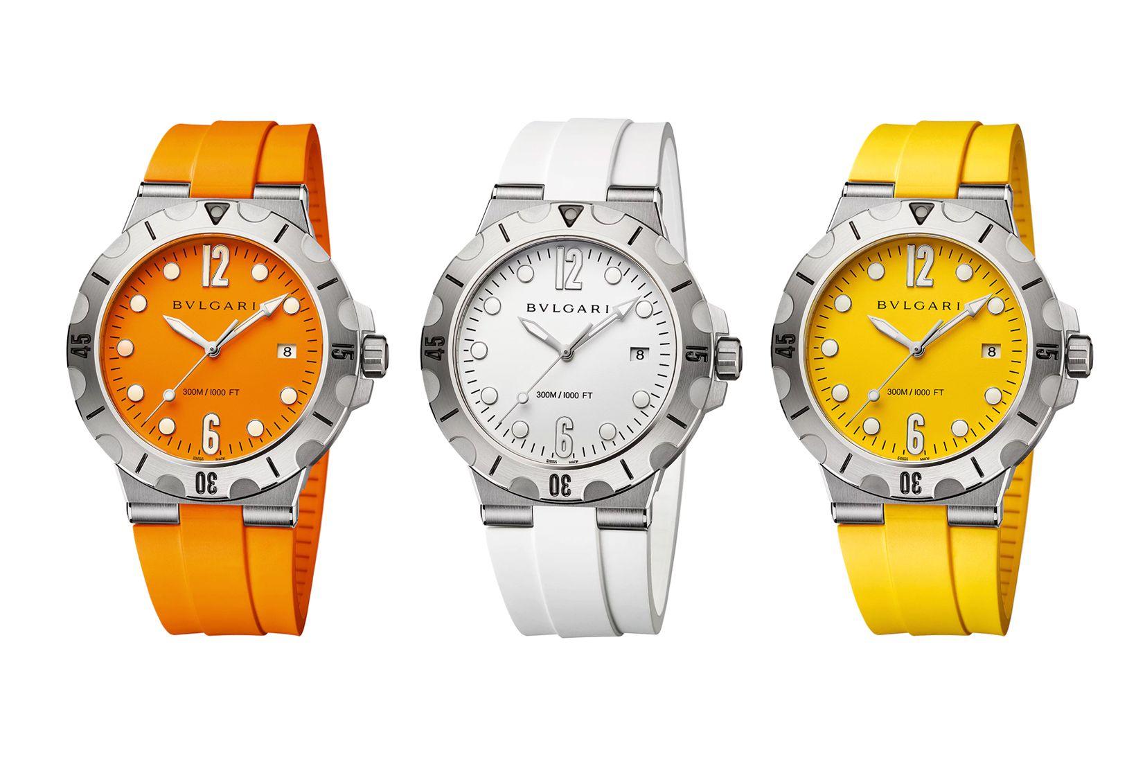 The Bulgari Diagono Scuba Dive Watch Series Is Made for Beach Season