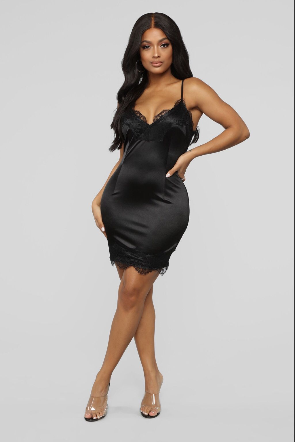 4eab6e55915 Night Time Fun Satin Mini Dress - Black Black in 2019