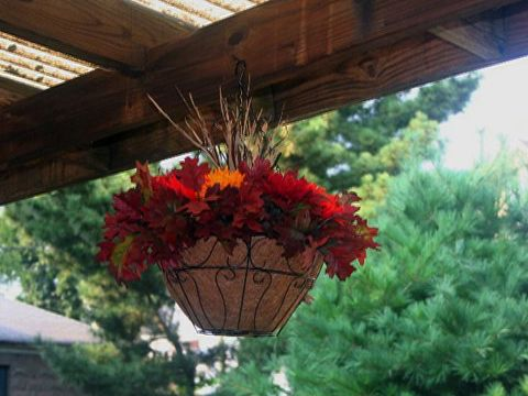 How To Make A Fall Hanging Basket Fall Hanging Baskets Hanging Baskets Fall Deco