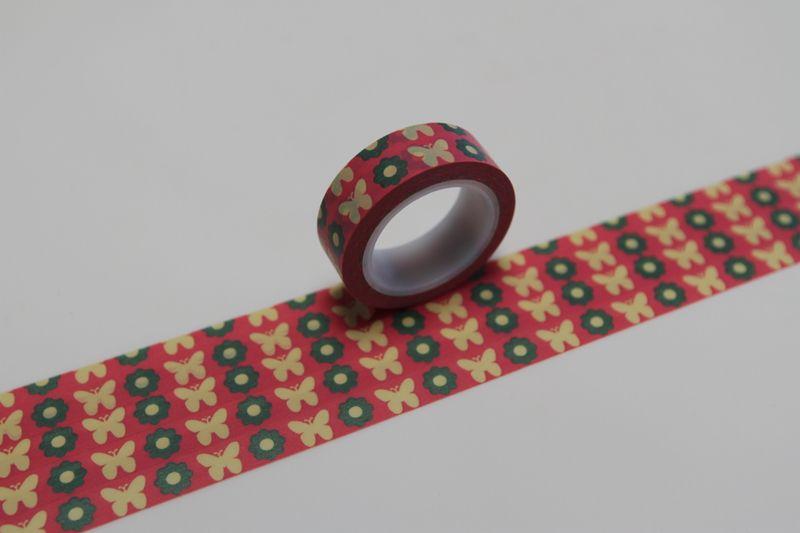 Tape SCHMETTERLING BLUMEN von washitapes auf DaWanda.com