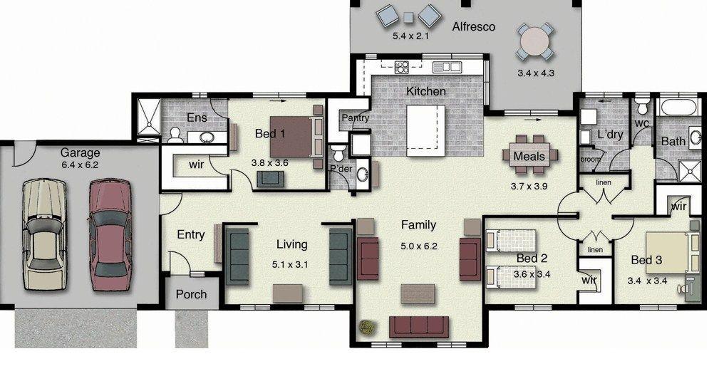 Delightful Planos De Casas Modernas Con Frente Grandes