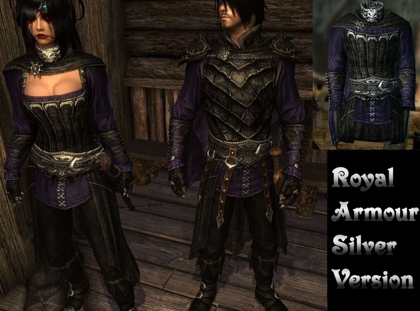 Skyrim Vampire Armor - Purple/black/silver | Cosplay