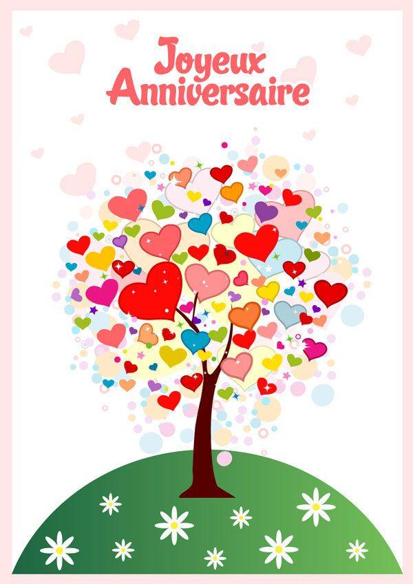 Carte Anniversaire L Arbre De Coeurs Carte Anniversaire Gratuite
