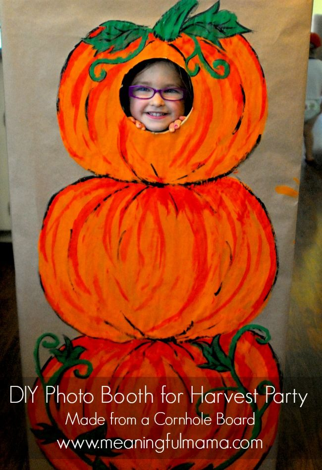DIY Photo Booth for a Harvest Party Fall festival games