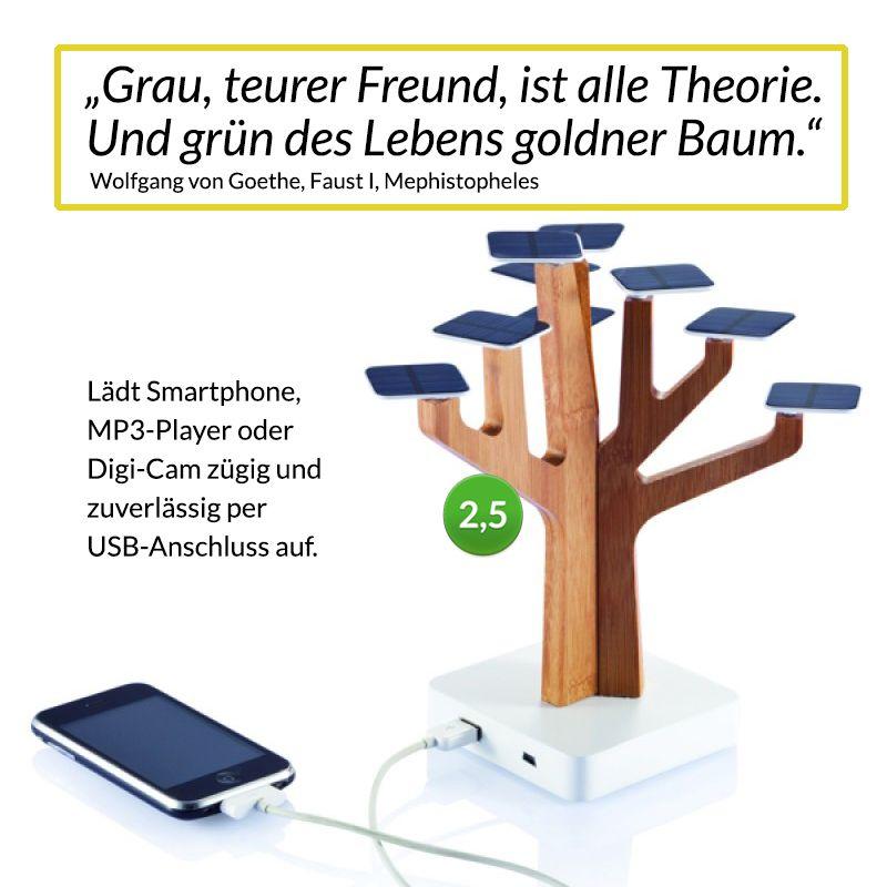 Zum Tag der Philosophie… darf dieser Solarbaum auf die Fensterbank–  hier alle Infos: http://wegreen.de/de/shop/xd-design/xd-design-solar-baum-ladegeraet/affilinet_9280_642/nachhaltigkeit/erneuerbare-energien