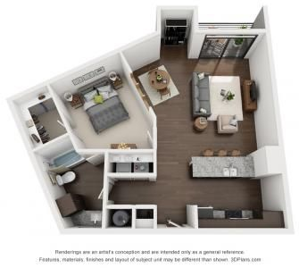 1 Bed 1 Bath 948 Sq Ft Apartment Layout Apartment Floor Plans Home Building Design