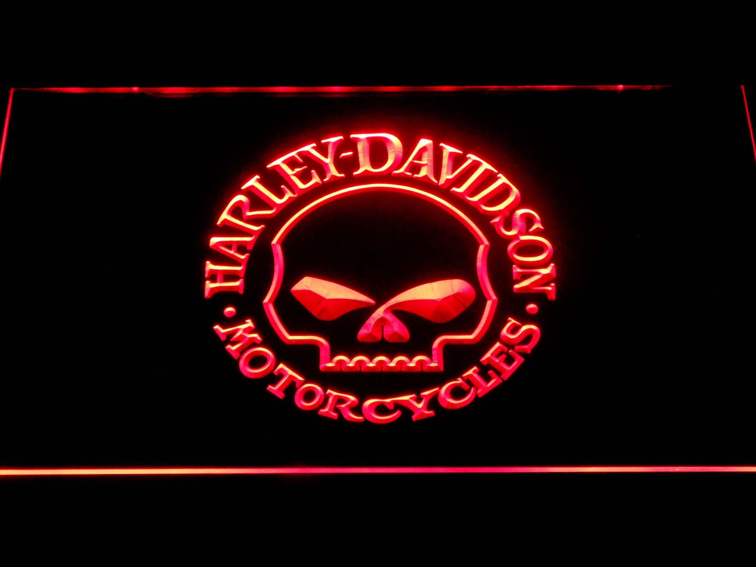 Harley Davidson Skull Led Neon Sign Led Neon Signs Neon Signs Harley Davidson